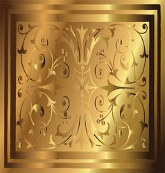 Abstract Copper Gold Background of Elegant Vintage vector image