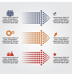 Abstract infographic with dots arrows vector image