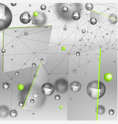 Abstract particles background vector