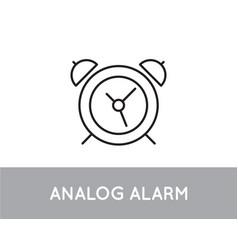 analog alarm clock icon design template vector image