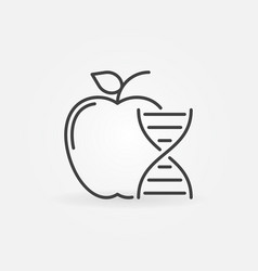 Apple with dna icon genetically modified vector