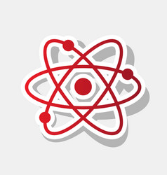 atom sign new year reddish vector image