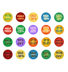 balls with promotional offers seasonal and vector image