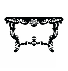 Baroque Rich table vector