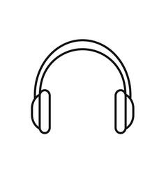 bbq headphones outline vector image