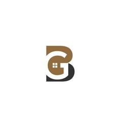 Bg real estate logo template vector