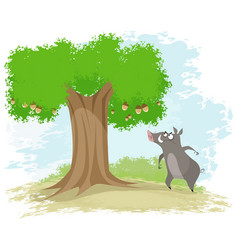 boar oak and corns vector image