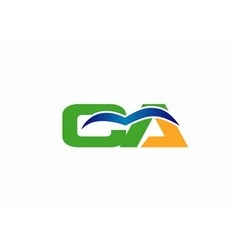 CA company group linked letter logo vector image