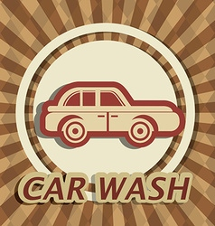 Car wash digital design vector