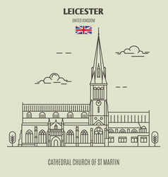 cathedral church of st martin in leicester vector image