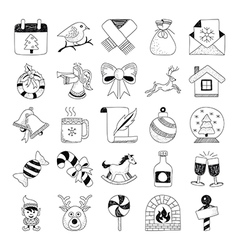 Christmas Hand Drawn Doodles 2 vector image