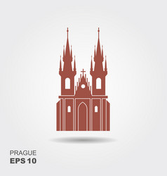 church our lady before tyn - symbol of vector image