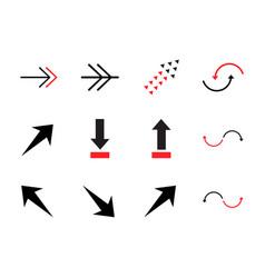 colored arrows elements design vector image
