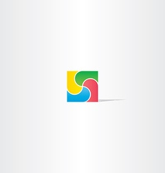colorful square business logo design abstract icon vector image