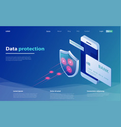 concepts mobile payments data protection vector image