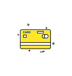 credit card icon design vector image