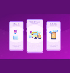 Cross-browser compatibility app interface template vector