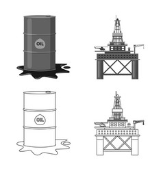 design of oil and gas symbol collection of vector image