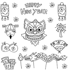 element Chinese New Year vector image