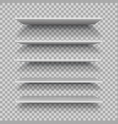 empty white plastic shelf isolated on vector image