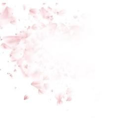 Falling sakura pink petals background EPS 10 vector