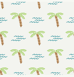 Flat color seamless summer pattern fabric vector