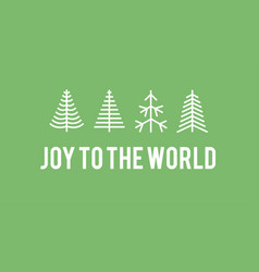 Flat set christmas trees holidays background vector