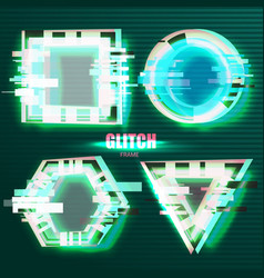 Glitch effects in minimal style vector