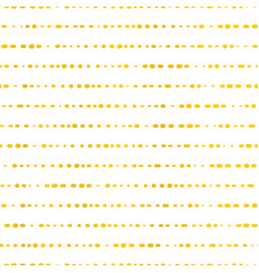 golden horizontal lines dotted seamless vector image