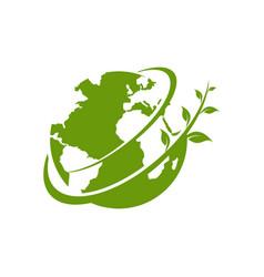 green earth logo template vector image