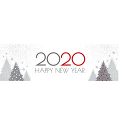 happy new 2020 year flyer design template elegant vector image