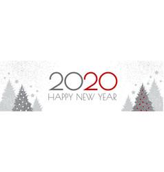 Happy new 2020 year flyer design template elegant vector