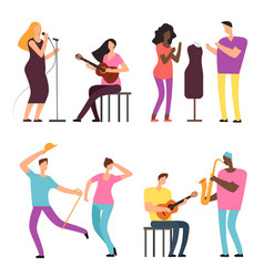 happy people of art and music professional vector image