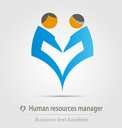 Human resources manager business icon vector image