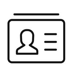 Identity card icon identificationid symbol vector