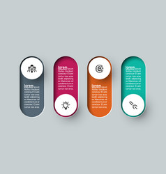 infographic 3d long circle label infographic with vector image