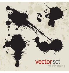 Ink stains set 4 vector image
