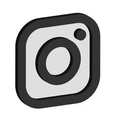 instagram logo isometric icon vector image