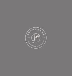 Jo letter feminine logo design vector