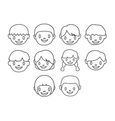 kids icon set vector image