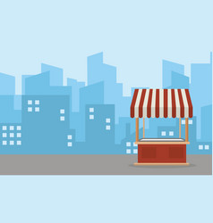 landscape of street stall flat vector image