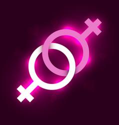 lesbian symbol vector image