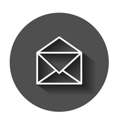 Mail envelope icon email flat e-mail business vector