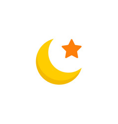 moon icon flat element of vector image
