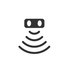 Motion sensor icon in flat style sensor waves on vector