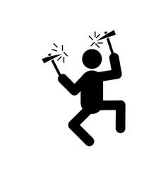 mountaineer glyph icon vector image