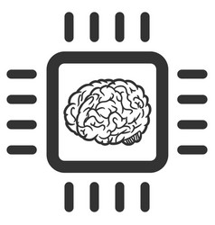 neural chip icon vector image