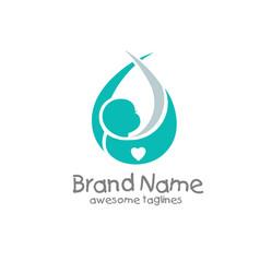 newborn baby logo vector image