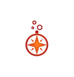 North star compass logo vector