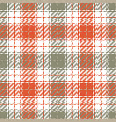Orange and grey tartan plaid seamless pattern vector